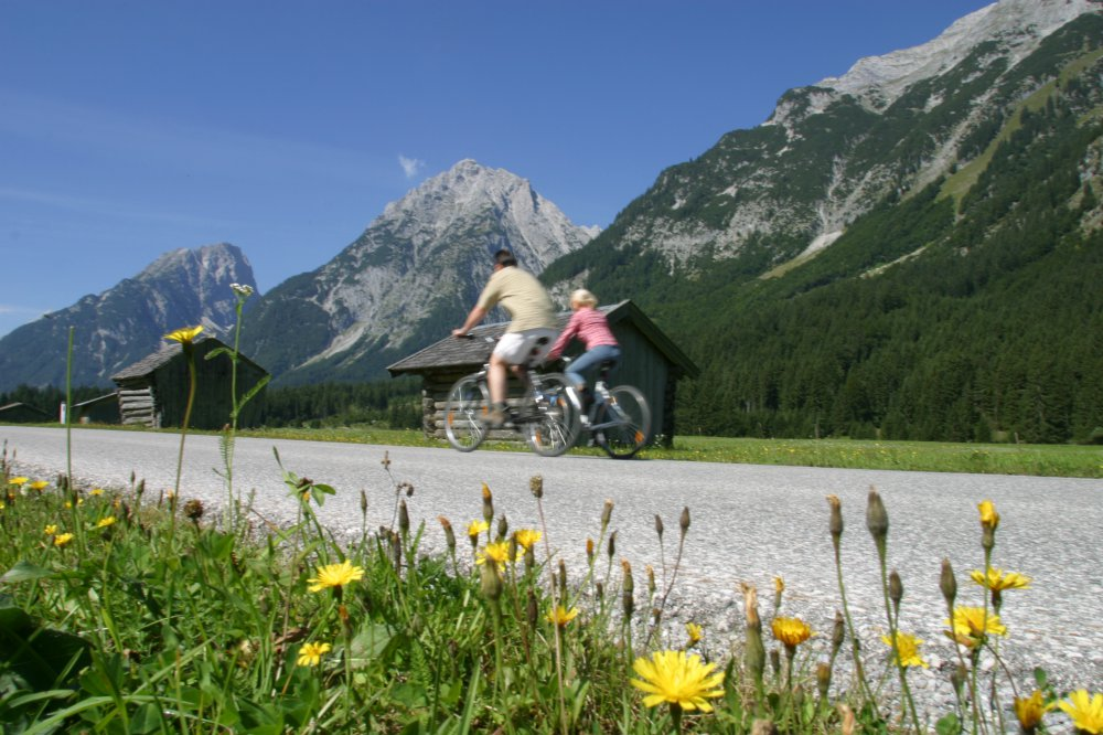 Cycling in the Leutasch valley