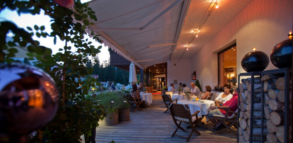 terrace in the evening